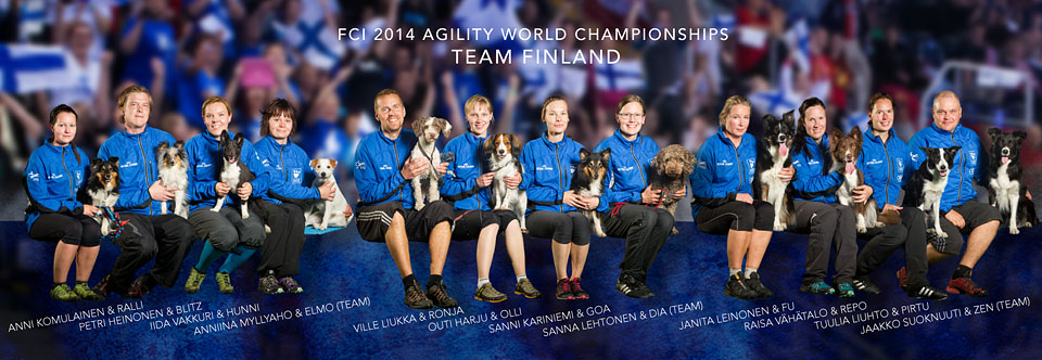 Team Finland in Agility World Championships 2014